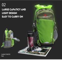 Livraison gratuite Nouveau sac de sport alpinisme outdoor alpinisme étanche 35L Travel Camping Sac à dos de randonnée Ride Escalade Pack Grey Bleu
