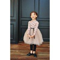Wholesale 2017 fashion new autumn winter girl dress warm dress baby kids clothing