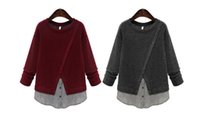 Wholesale Brand New Women s long sleeve sweater pullover knitting shirt loose slimming clothes