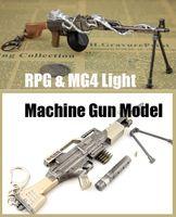 Wholesale German Army MG4 Soviet Union RPK Light Machine Gun Metal Model Gun Toy cm Length Military Key Buckle Military Fans Collection Decoration
