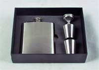 Wholesale sets oz Stainless Steel Liquor wine Flask gift sets