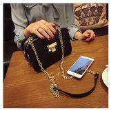 Wholesale New Fashion Women Shoulder Bag Chain Strap Flap Messenger Bags Designer Handbags Clutch Bag With Metal Buckle