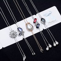 Wholesale Temperament autumn and winter sweater chain necklace female crystal linked to the chain pendant dress popular with jewelry