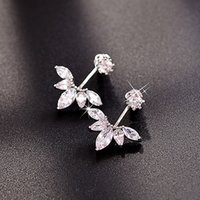 Wholesale Fashion earrings simply to wear silver diamond high quality for elegant female in a gift package