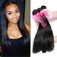Wholesale Dream Like Hair Unprocessed Virgin Brazilian Straight Hair Bundles Soft Brazilian Virgin Straight Human Hair Weave Bundles