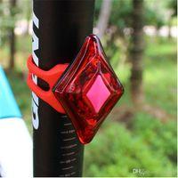 bicycle charge - LED Bike Light Mountain Bike Taillight USB Charging Bicycle Light LED Warning Light Diamond Flashing Lights Bicycle Bike Cycling Taillight