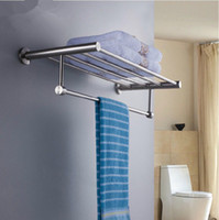 Wholesale Factory directly sell bathroom stainless steel double layer towel rack