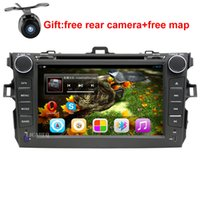 Wholesale 8 quot Android Car DVD Player GPS Navigation For Toyota Corolla car raido stereo with SWC BT wifi