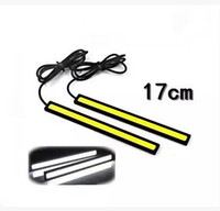 Wholesale 2 the new ultra thin COB line lamp Ultra bright led power car daytime running lights waterproof refitting universal day light
