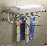 bath towel rod - and Retail Stainless Steel Double Towel Rack Brushed Nickle Bath Towel Shelf Towel Rod
