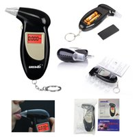 Wholesale Digital LCD Backlit Display Breathalyzer Audible Alert Breath Alcohol Tester Box Parking Gadget Analyzer