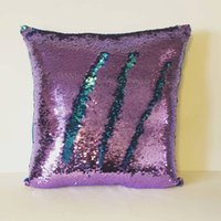 Wholesale Sequin Pillow Case Sequin Pillowslip Tone Color Pillows Case Reversible Cushion Pillow Cover Home Sofa Car Decor Mermaid Pillow Covers