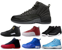 Wholesale air retro man basketball shoes Blue Suede the master taxi playoffs flu game mens sneaker new Pinnacle Metallic Gold discount shoes