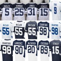 bailey jerseys sale - Blue Mens Elite Jerseys Dan Bailey Byron Jones Lance Dunbar Devin Street Tyrone Crawford Rolando McClain White Jerseys Sale