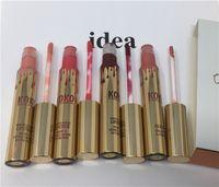 Wholesale Kylie Jenner Lip Kit Lipgloss Set KOKO Kollection Set The Family Collaboration kollaboration Gold Metal Matte lipstick KHLOE Lip Gloss Xmas