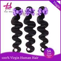 Extensions de cheveux naturels en ligne France-Meilleur péruvien perruque cheveux humains péruvienne Body Wave 3 Bundles 5A naturel couleur # 1B extensions de cheveux en ligne péruvienne cheveux UK