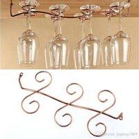 Precio de Bastidores de almacenamiento de vino-Bajo gabinete Wall Wine Rack Organizador de almacenamiento Acero inoxidable Soporte de vidrio Stemware Racks 6/8 tazas