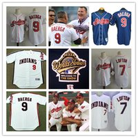 Wholesale Mens cheap Cleveland Indians Kenny Lofton Throwback Cooperstown Jersey stitched Carlos Baerga Indians Cool Base World Series Jersey