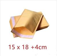 15 x18CM + 40mm Kraft Bolso de papel del sobre del correo Bolso del PE rellenado Sobres Bolsas de embalaje Suministros de envío de calidad superior Entrega gratuita