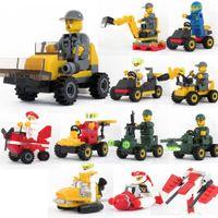Wholesale 9 cm Kids building blocks Vehicle Toy Bricks Children Educational Toys best gifts for kids retail