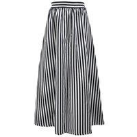 Wholesale 2016 Europe station new fashion black and white printing high waisted skirt all match