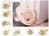 Wholesale 2017 Harry Potter Necklace Time Turner Necklace Hourglass Harry Potter Necklaces Hermione Granger Rotating Spins Jewelry