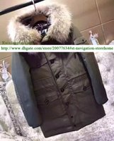 Wholesale High quality brand style Big Fur Collar Men Winter Warm Long Down Parksa Thicker jacket Outerwear Mon
