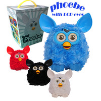 batteries doll - Electronic Talking Phoebe Firbi Phoebe Elves CM LCD Eyes Russian English Furby Boom Firbi Phoebe Furby Plush Doll Electronic Toys for Kids
