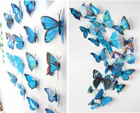 Wholesale Cinderella Butterfly d Butterfly Decoration Wall Stickers pc d Butterflies Pvc Removable Wall Stickers Butterflys Home Décor