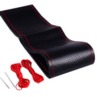 Wholesale Universal cm Anti slip Genuine Leather DIY Car Steering Wheel Cover Case With Needles and Thread Car Cover Car Styling