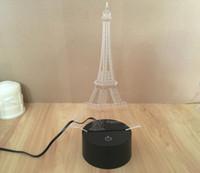 2017 NOUVELLE lumière du jour de l'électronique Tour Eiffel Lampe de table d'éclairage acrylique Led lampe de nuit 3D pour chambre décorée