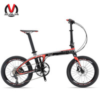 Wholesale SAVA inch Folding Bike T700 Carbon Fiber Frame Ultralight SHIAMNO Speed Derailleur System Mini Compact City Tour Bike Disc Brake