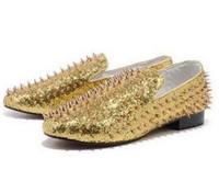 Fameux bas de mocassins en cuir Strass Rollerboy brillant pointes, la mode Slip-On chaussures plates Oxfers, hommes d'affaires