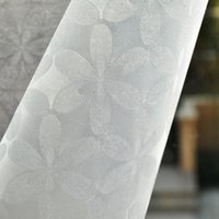 Wholesale 45x100cm PVC six floral pattern film glass sliding doors and living room bathroom glass paste film opaque film N12