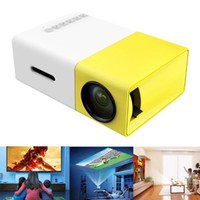 Wholesale LED LCD Mini Portable LED Projector with USB SD AV HDMI Input International Version White yellow led Pocket Projector