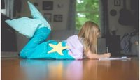 bedding for kids - 144cm cm New Kids mermaid tail blanket children bedding swaddle kids baby soft fleece sleepbag mermaid blanket Bedding Wrap for kids