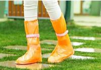 Wholesale DreamShining Reusable Rain Shoes Cover Women Men Children Thicken Waterproof Boots Cycle Rain Flat Slip resistant Overshoes Z112