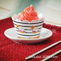 Wholesale Halloween Cupcake side inserted card Cup Cake side edge Muffins