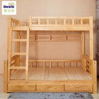Wholesale new style wooden home furniture hot sale fashion customized size optional color durable bedroom bunk bed