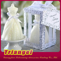 Wholesale Top Quality Wedding Favor Gifts Wedding Dress Candles For Wedding Birthday Christmas Party Decoration