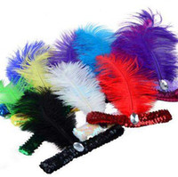 Wholesale Flapper Sequin Feather Hairwear Charleston Dress Costume Headband Headpiece