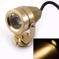 Wholesale Golden DC12V W LED Underwater Lights Warm White Lighting Waterproof IP68 underwater Lamp for Fountain Swimming Pool LED Light
