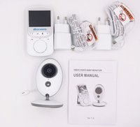 VB605Wireless Night Vision Infant Baby Monitor Vidéo Moniteur LCD Appareil photo Musique Audio Temperature Affichage Radio Baby Nanny Monitor AT