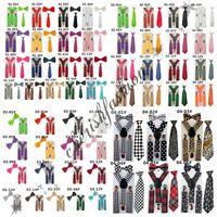Wholesale 3Pcs Set Baby Suspenders Children s Boys Bow tie Kid Suspender Set Elastic Adjustable Y Back Braces Kids Ties Wedding L300 B