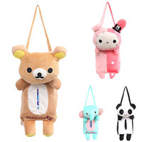 Wholesale Lovely Cute Rabbit Bear Elephant Panda Home Office Car Auto Automobile Tissue Boxes Cover Napkin Paper Towel Holders Cases