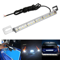 Wholesale 12V SMD Red White Color K Xenon Super Bright Universal Car License Plate Light Stop backup Lamp Car styling Decoration