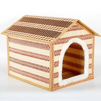 bamboo canopy - 2016 New Product Pets Articles Summer Bamboo Weaving Pets Nest Bamboo Weaving Kennel The Cat Cage House Villa Gogo Small Nest