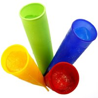 Ice Cream Makers Silicone ECO Friendly middle Size 15*3.5cm 4 Colors Silicone Popsicle Mold Push Up Homemade DIY Delicuous Ice Cream Jelly Lolly Pop Maker
