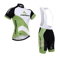 ¡Gran venta! Merida Ciclismo Jersey Ropa De Bicicleta Ropa Deportiva camisas maillot Ropa ciclismo Bike manga corta China Bib Set D1105