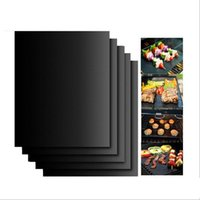 Wholesale Barbecue Grilling Liner BBQ Grill Mat Portable Non stick and Reusable Make Grilling Easy CM MM Black Oven Hotplate Mats N118